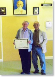 Sensei Foster and Sensei Chiba upon his 6th dan award